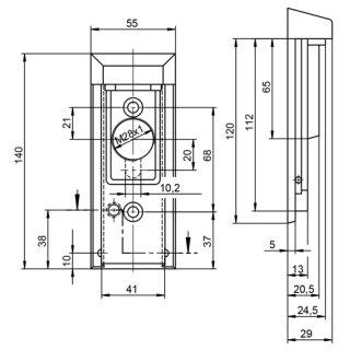 zi ikon sm23 visierrosette mit magnet codiertem visier und zylinderabdeckung f r holzt ren. Black Bedroom Furniture Sets. Home Design Ideas