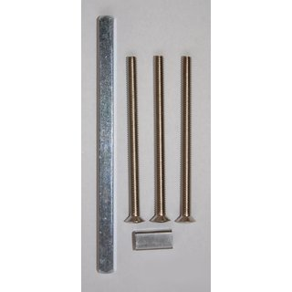 Vollstift Set Vierkant 8 x 140 mm