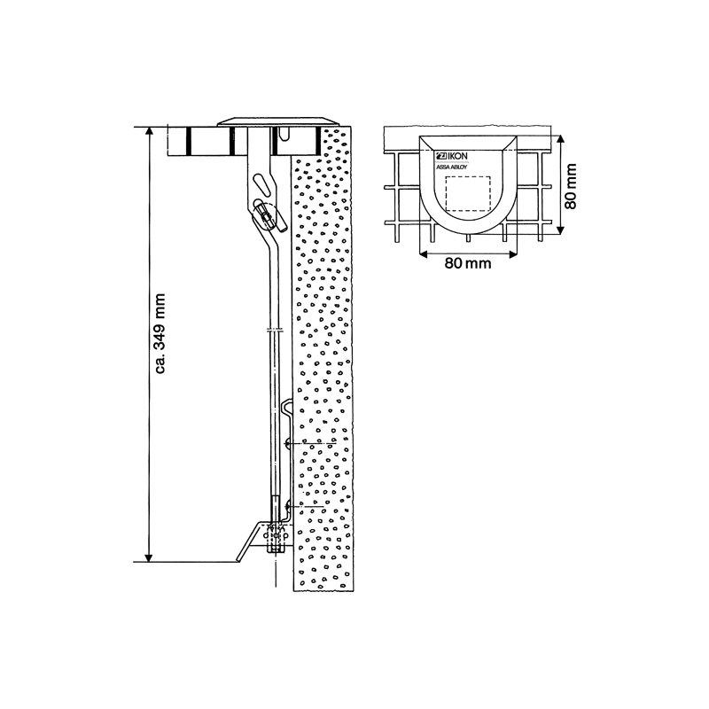 GITTERROST SICHERUNGSKETTE 800 mm paar